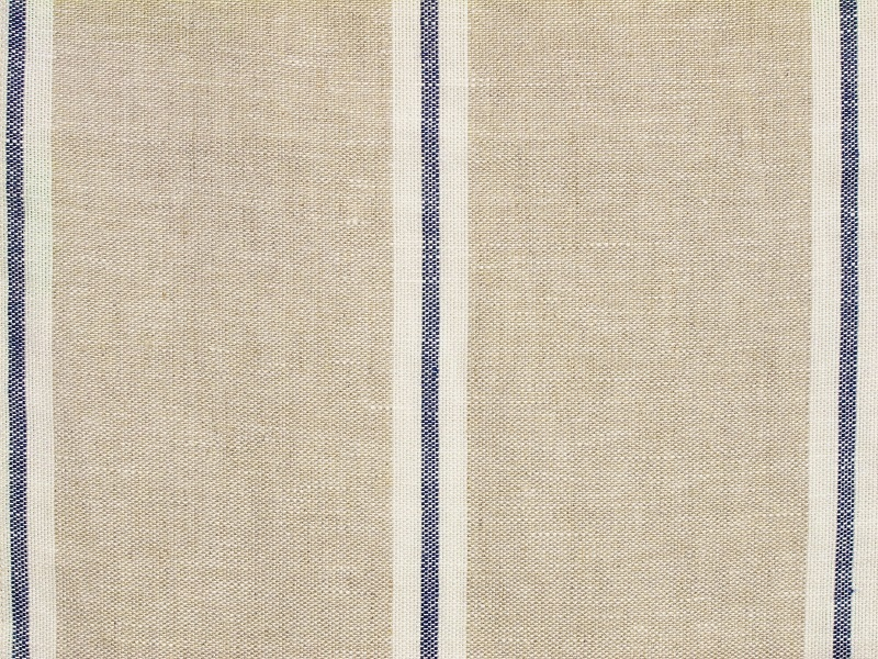Linen Stripes Lina【Lina Marine No.2】 ( Curtain )
