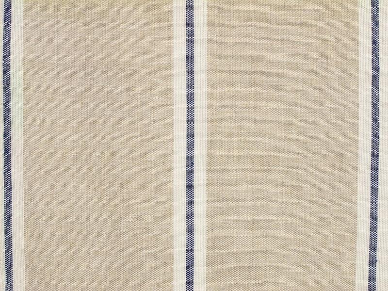 Linen Stripes Lina【Lina Marine No.2】 ( Curtain )
