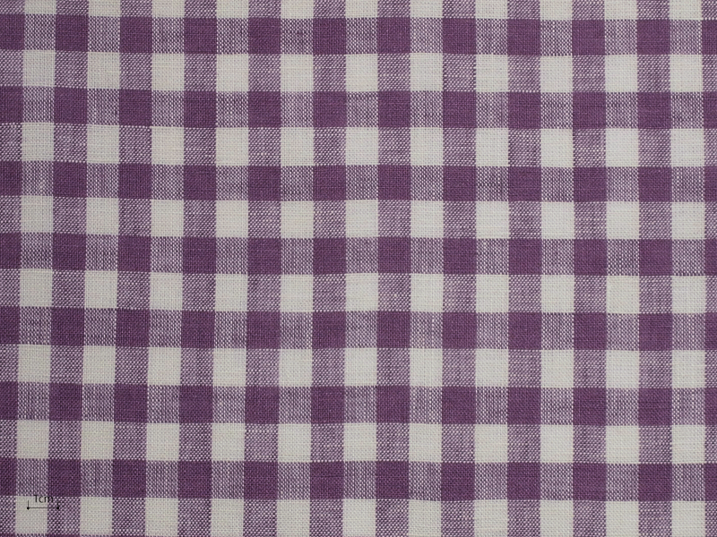 Linen Checks Lina 【 Lina No.44 】 ( Curtain )