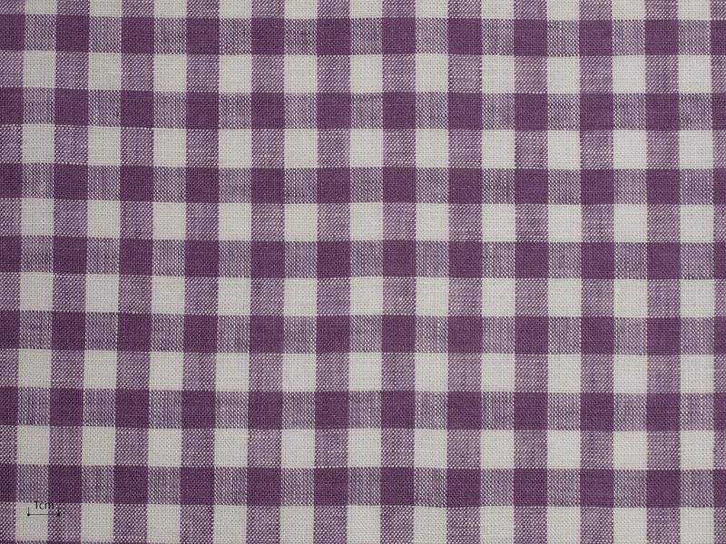 Linen Checks Lina 【 Lina No.44 】 ( Curtain )