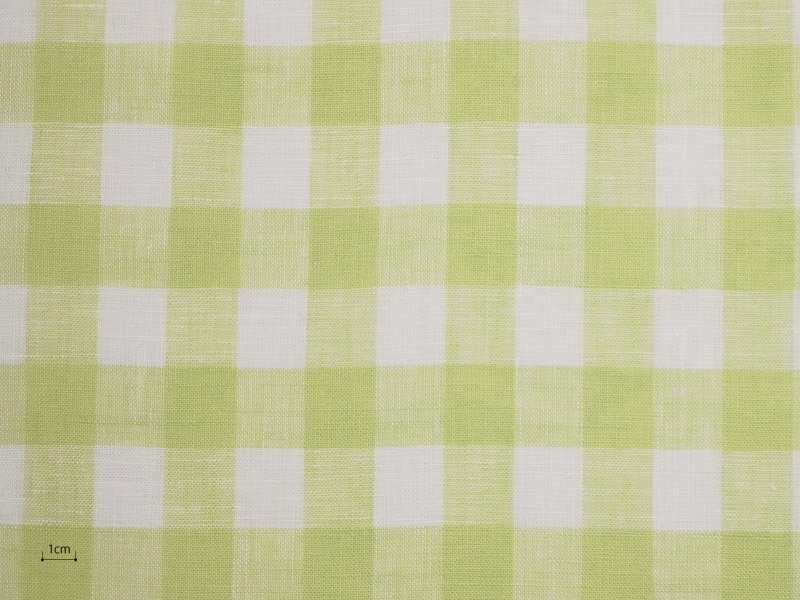 Linen Checks Lina 【 Lina No.48 】 ( Curtain )