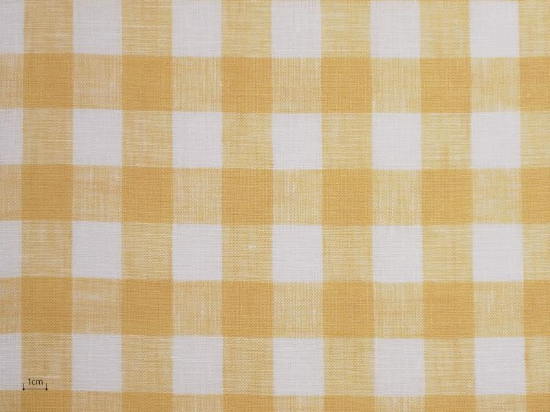 Linen Checks Lina 【 Lina No.60 】 ( Curtain )