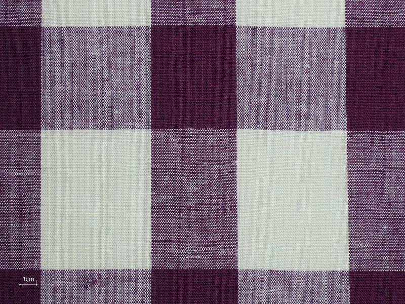 Linen Checks Lina 【 Lina Berry Check 】 ( Curtain )