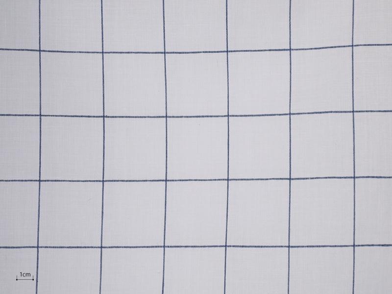 Cotton Muslin 【 Muslin Check Dark Blue 】 ( Curtain )