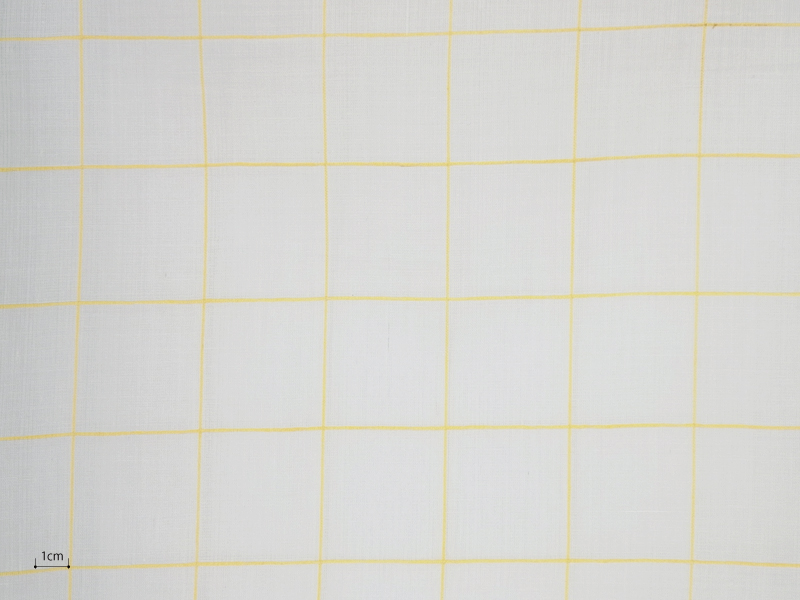 Cotton Muslin 【 Muslin Check Yellow 】 ( Curtain )