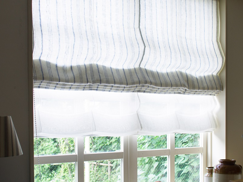 Linen Stripes Lina 【 Lina No.50 】 ( Curtain )
