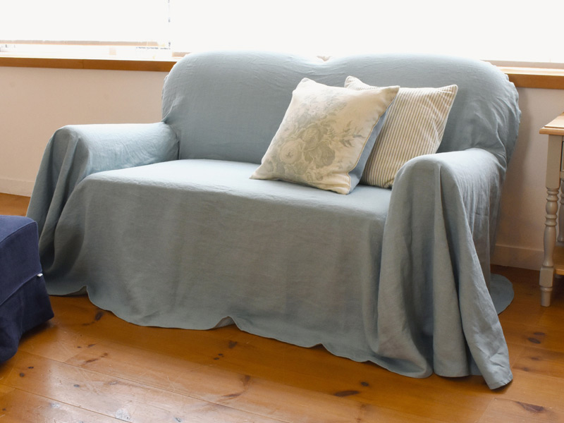 Linen Plains Lina【Lina Washed Blue】( Sofa / Curtain )