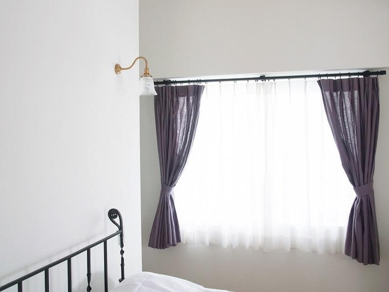 2本プリーツカーテン