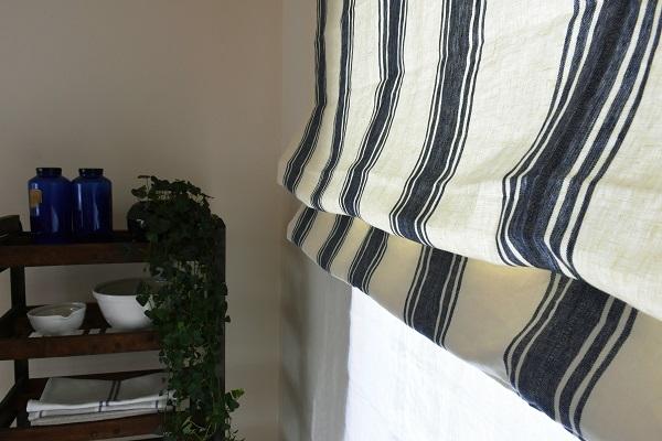 Linen Stripes Lina【Lina Marine No.3】 ( Curtain )