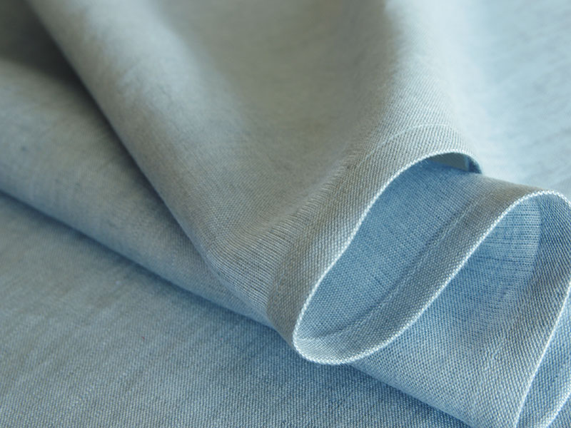 Linen Plains Lina 【 Lina Chambray Blue 】 ( Curtain )