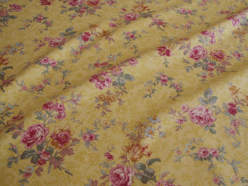 Linen Flower Naturals 【Naturals Antique Rose Mustard 】 ( Curtain )