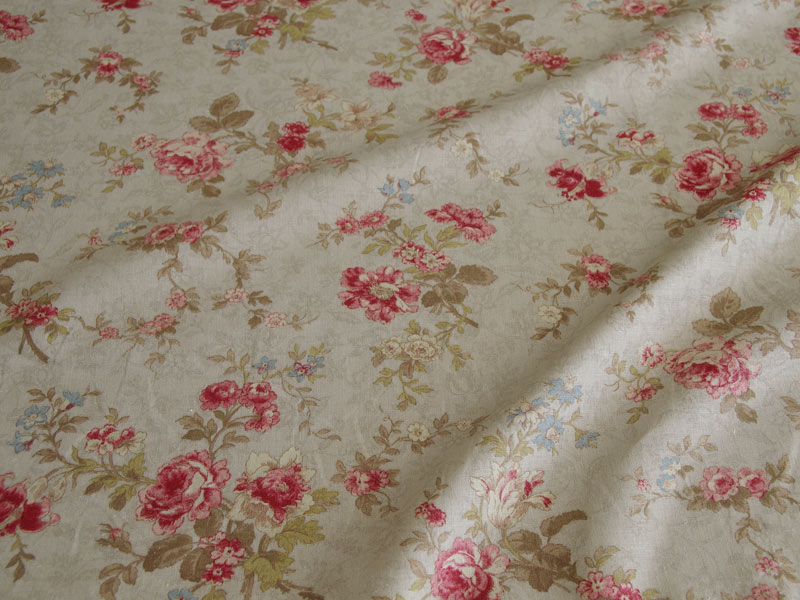 Linen Flower Naturals 【Naturals Antique Rose Taupe 】 ( Curtain )