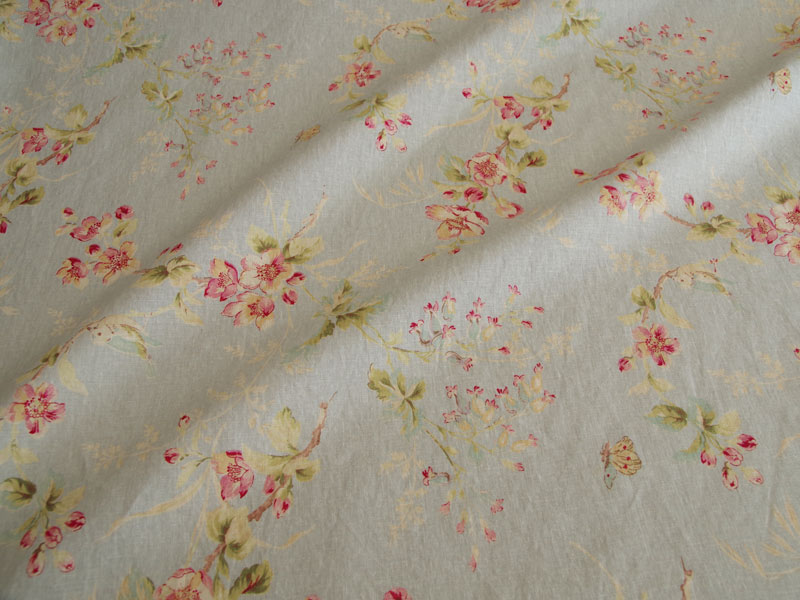 Linen Flower Naturals 【Naturals Trinity Blue 】 ( Curtain )