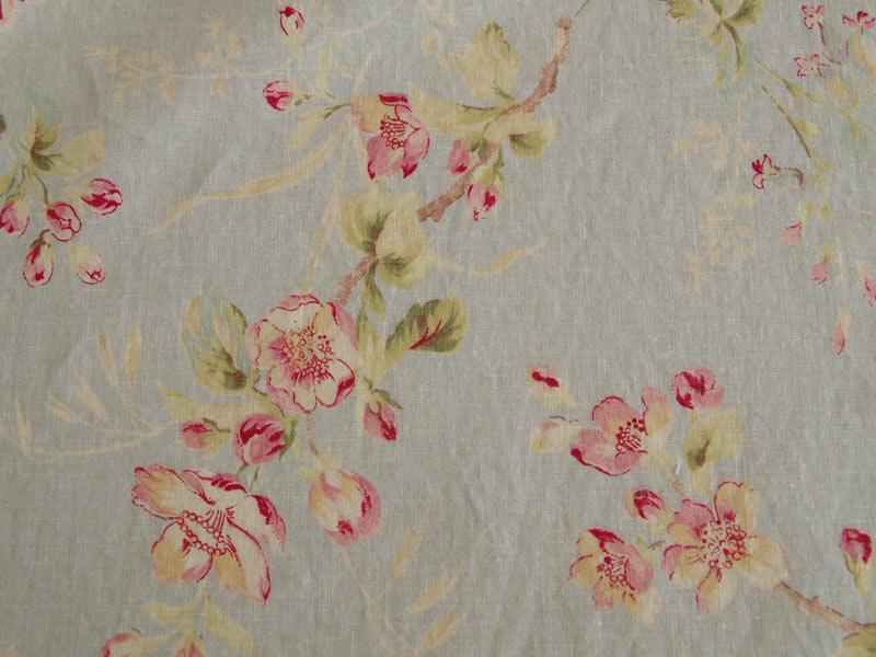 Linen Flower Naturals 【Naturals Trinity Blue 】 ( Curtain )