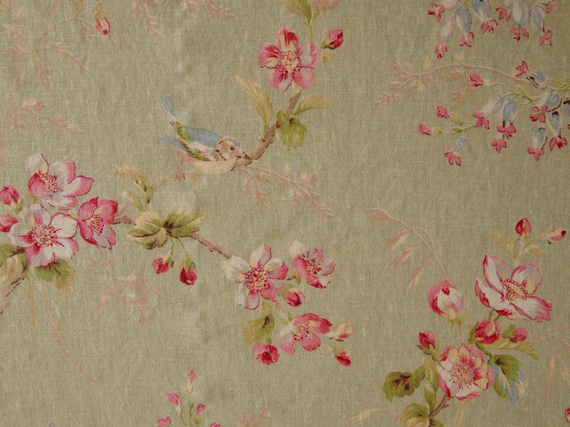Linen Flower Naturals 【Naturals Trinity Green 】 ( Curtain )