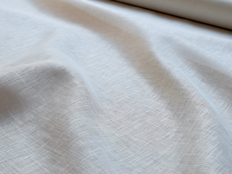 Linen Muslin 【 Naturals Glazed White 】 ( Curtain )