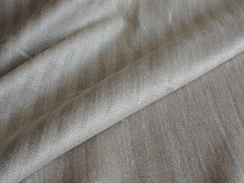Linen Stripes Lina 【 Herringbone Natural 】 ( Sofa / Curtain )