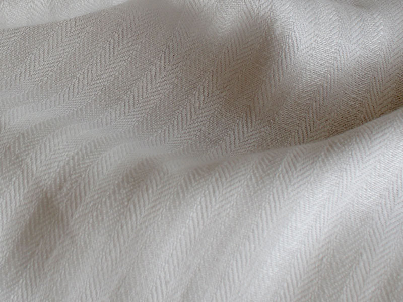 Linen Stripes Lina 【 Herringbone White 】 ( Sofa / Curtain )
