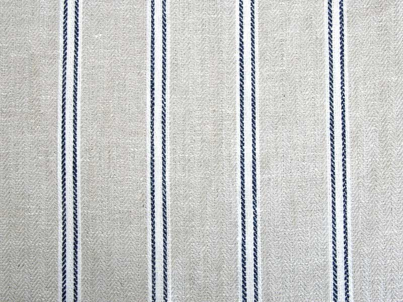 Linen Stripes Lina【Lina Marine No.5】 ( Curtain )