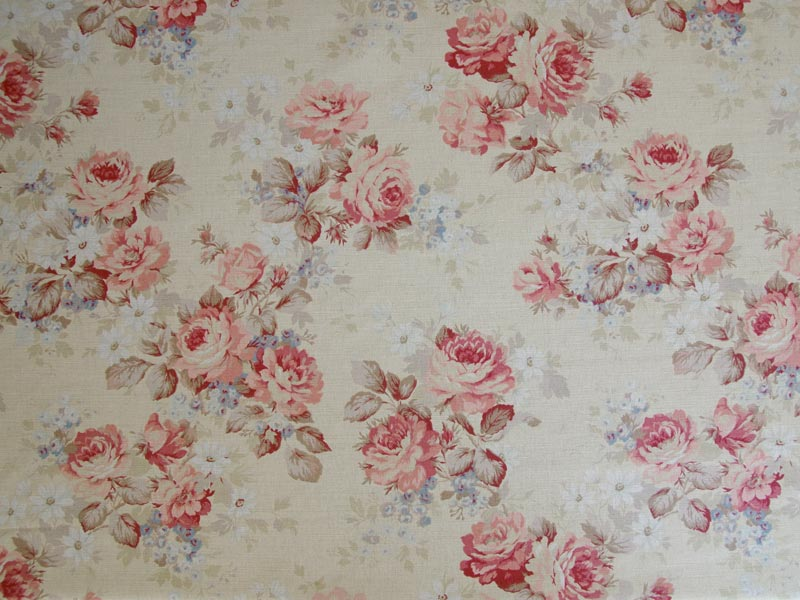 Linen Flower Naturals 【 Naturals Hawkswick Rose 】 ( Sofa / Curtain )