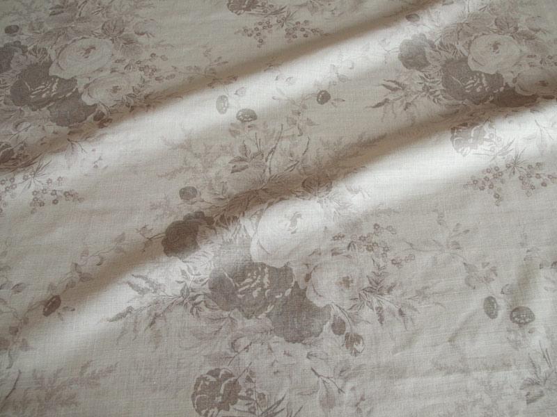 Linen Flower Naturals 【Naturals Rose Gray 】 ( Curtain )