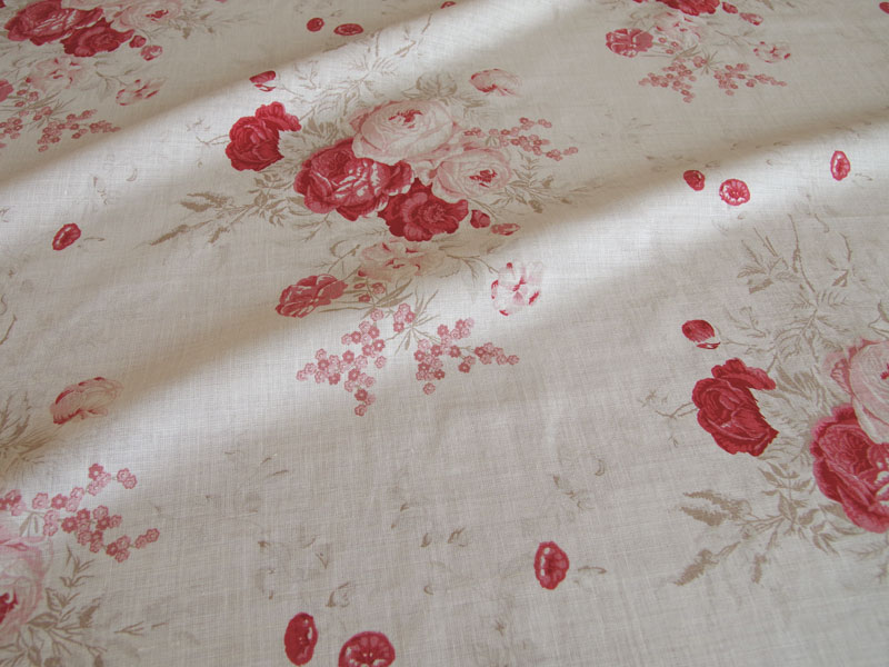 Linen Flower Naturals 【Naturals Rose Red 】 ( Curtain )
