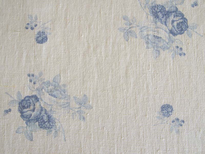 Linen Flower Naturals 【Shabbychic Rose Blue】 ( Curtain )