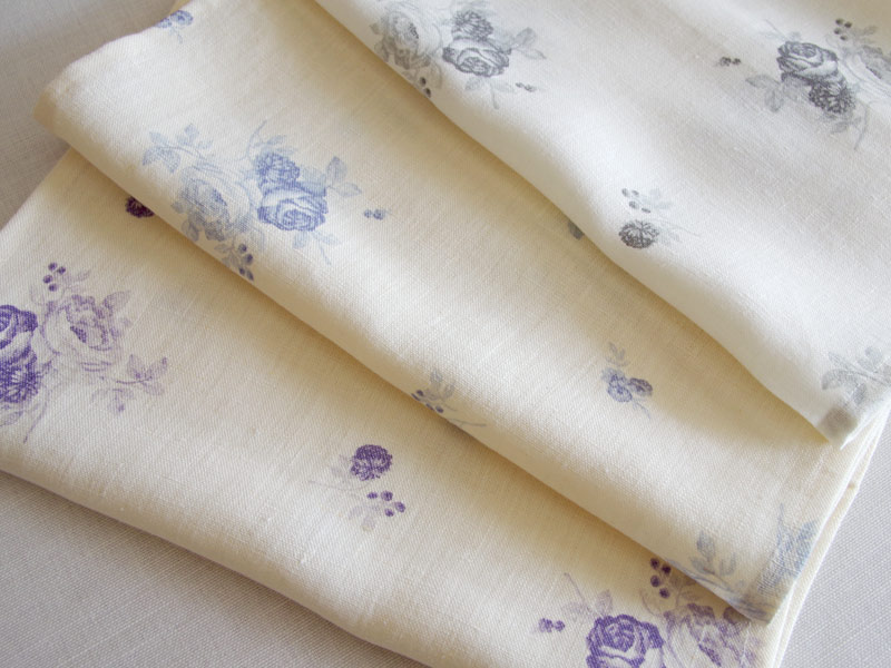 Linen Flower Naturals【Shyabbychic Rose Plum】 ( Curtain )
