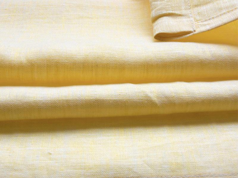 Linen Plains Lina 【 Lina Chambray Yellow 】 ( Curtain )