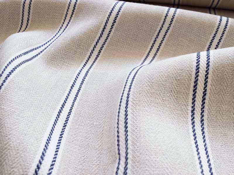 Linen Stripes Lina【Lina Marine No.5】 ( Curtain )