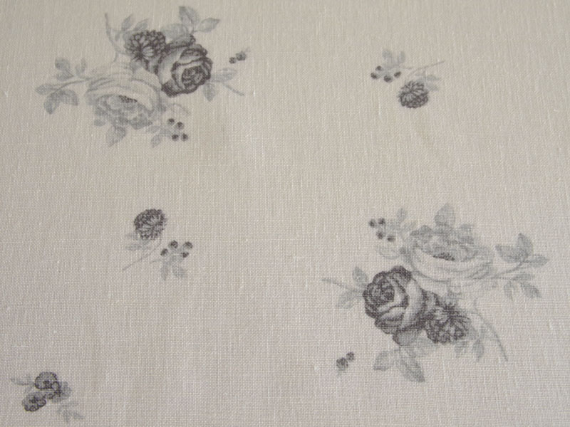 Linen Flower Naturals【Shyabbychic Rose Gray】 ( Curtain )