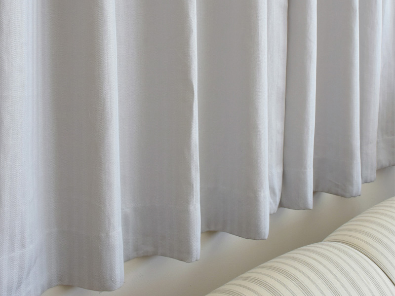 Linen Stripes Lina 【 Herringbone Grey 】 ( Sofa / Curtain )