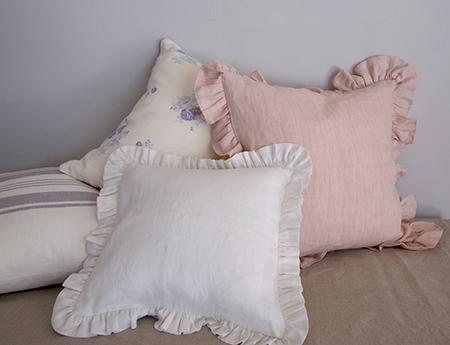 Chambray pink クッションカバーサイズ加工済