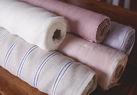 Chambray pink 生地ロールサイズ加工済