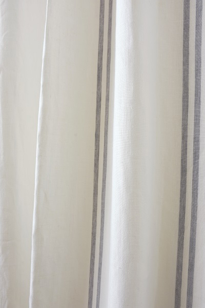Linen Stripes Lina【Lina Marine No.6】 ( Curtain )