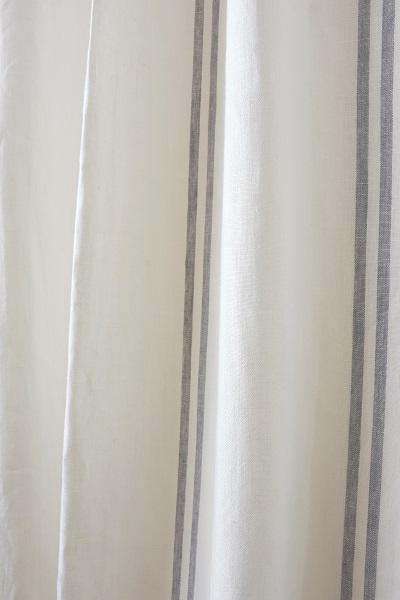 Linen Stripes Lina【Lina Marine No.6】 ( Curtain )