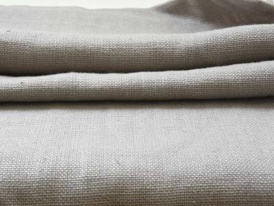 コロニアルチェックのリベコ社の新色リネン【セメント】は、優しいセメント色。厚地でしっかりしているので、ソファの張地にも最適です。