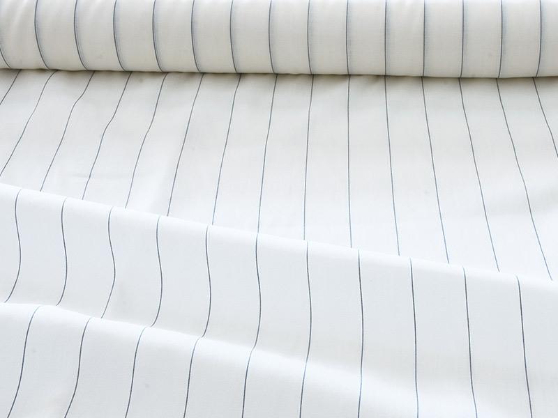 Linen Muslin 【 Muslin Half Linen Stripe Navy】 ( Curtain )