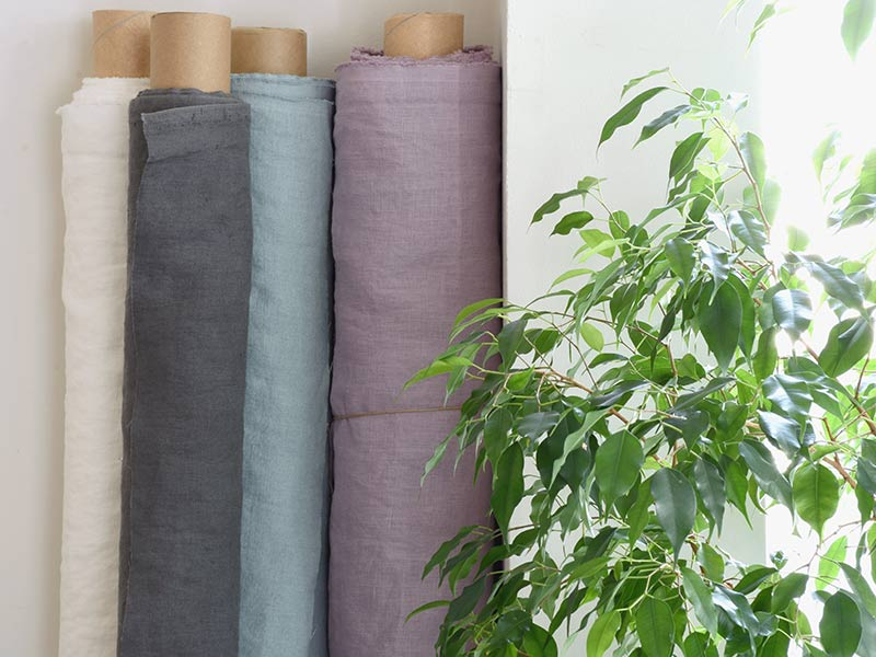 Linen Plains Lina【Lina Washed Lavender】( Sofa / Curtain )
